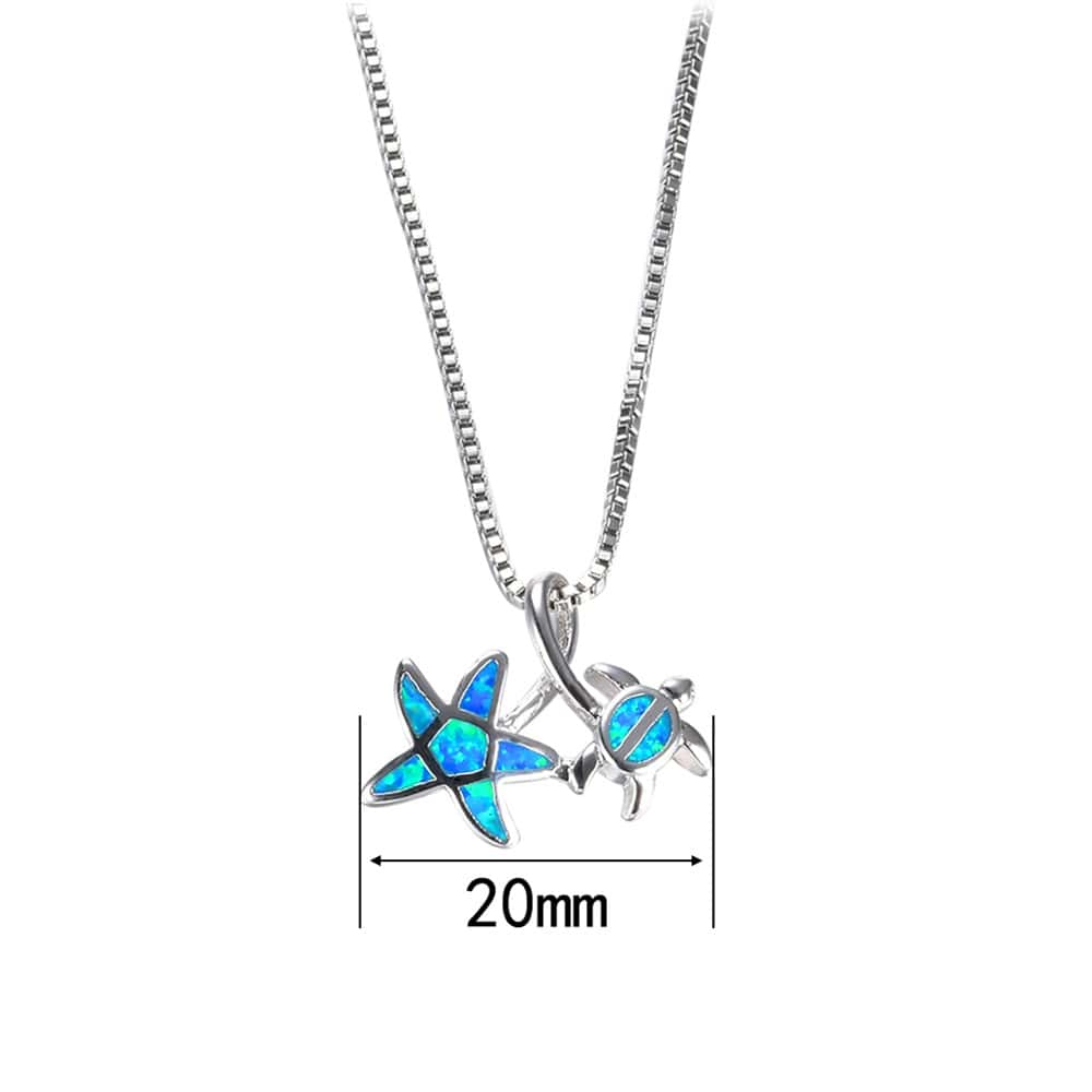 Turtle & Star Necklace Size Pendant