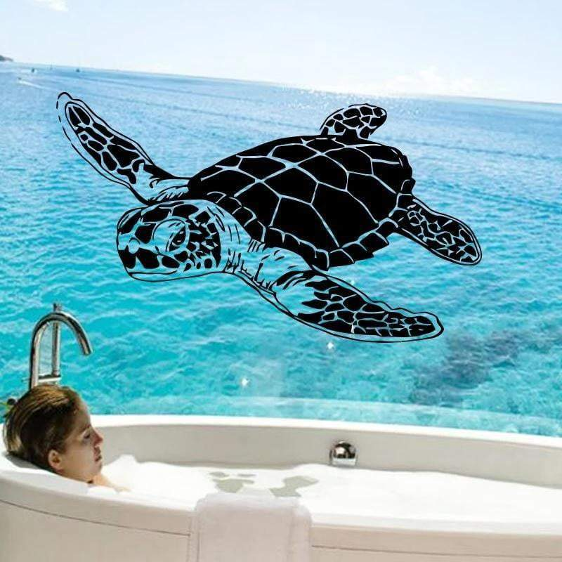 Turtle Sticker<br> Geochelone Swimming - Turtle Store