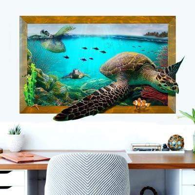 Turtle Sticker<br> Sea Turtles 3D - Turtle Store
