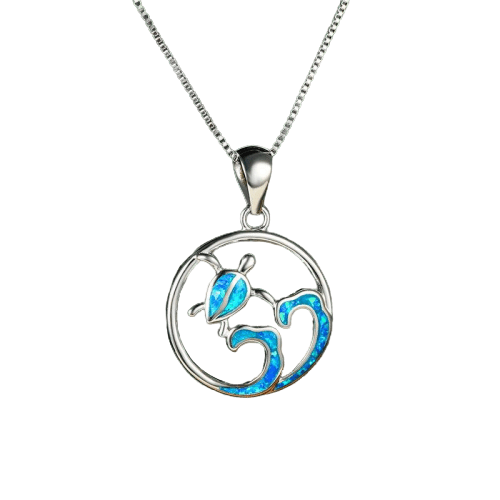 Wave Turtle Necklace - Turtle Store
