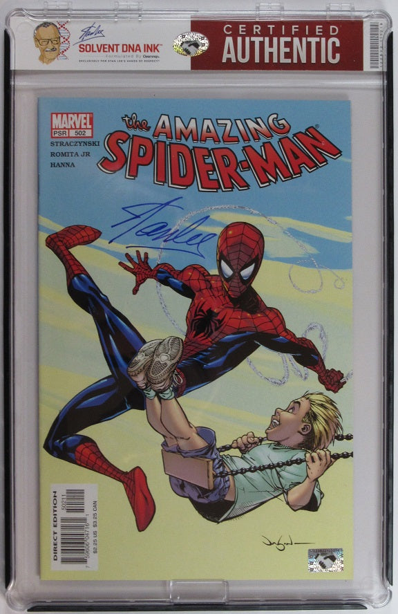 Stan Lee Autograph | The Amazing Spider-Man #502 | Solvent DNA Ink