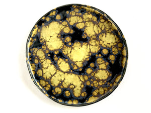 Dark Blue and Yellow Galaxy Flat Plate
