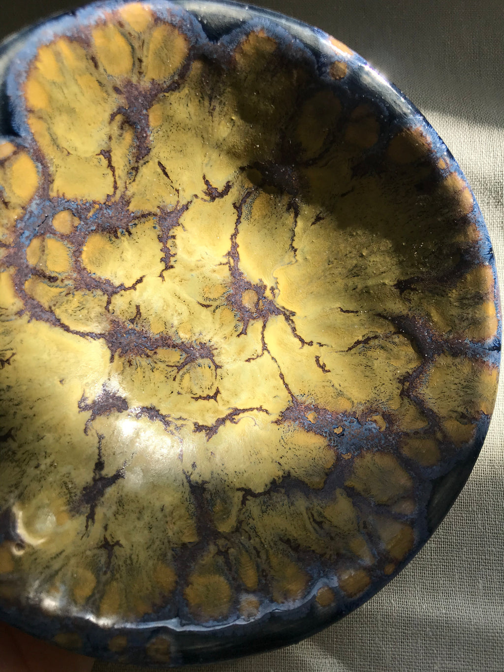 Yellow and Dark Blue Galaxy Bowl