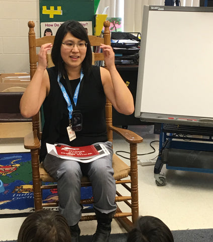 photo of monica at school book reading