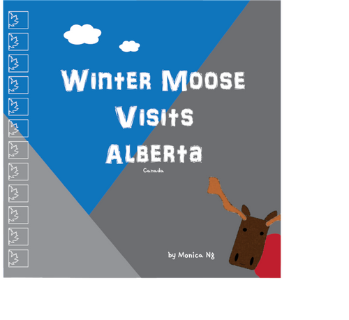 Winter Moose Visits Alberta eBook (MOBI format for Kindle E-Reader)