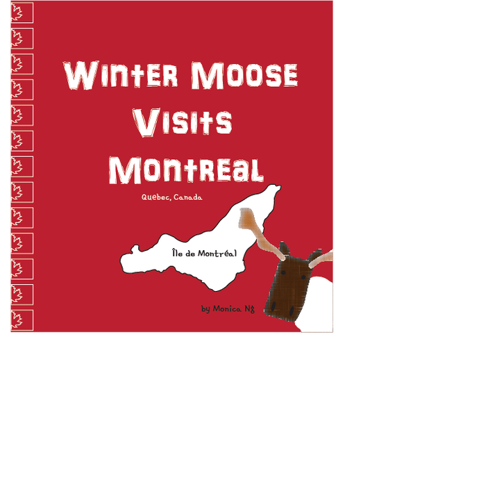 Winter Moose Visits Montreal eBook (MOBI format for Kindle E-Reader)