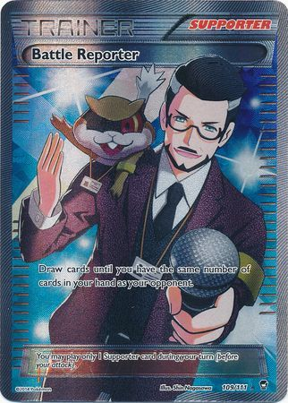 1x Battle Reporter - 109/111 - Full Art Ultra Rare - XY: Furious Fists - MP Moderately Played