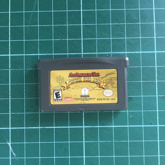 An American Tail: Fievel's Gold Rush • Nintendo Game Boy Advance GBA