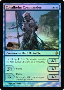 1x Coralhelm Commander • Foil • Rise of the Eldrazi • MP Moderately Played • MTG