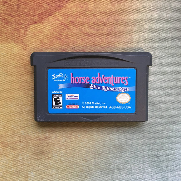 Barbie Horse Adventures: Blue Ribbon Race • Nintendo Game Boy Advance GBA