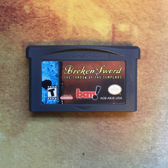 Broken Sword: The Shawdow of Templars • Nintendo Game Boy Advance GBA