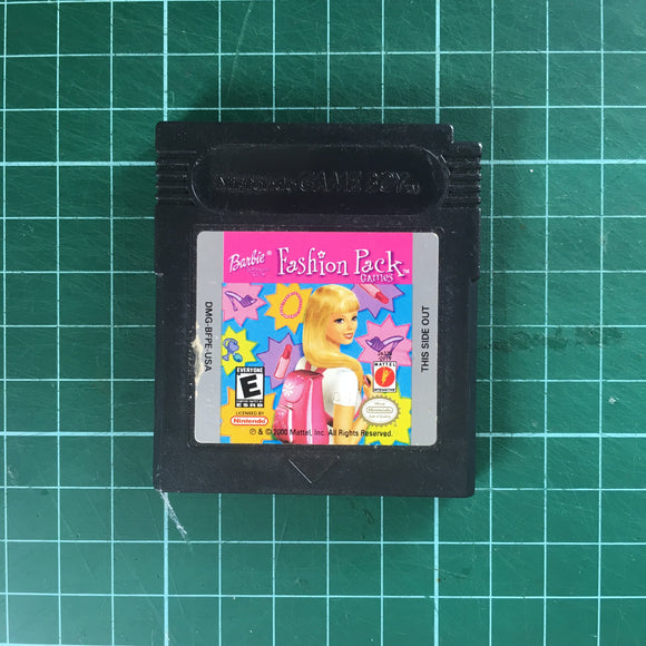 Barbie Fashion Pack Games • Nintendo Game Boy Color GBC