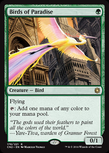 1x Birds of Paradise • Conspiracy: Take the Crown • MP Moderately Played • MTG