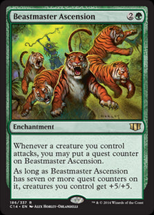 1x Beastmaster Ascension • Commander 2014 • LP Lightly Played • MTG