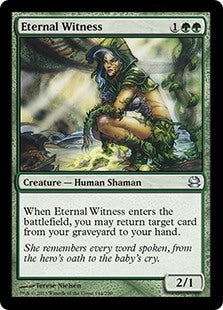 1x Eternal Witness • Modern Masters • MP Moderately Played • MTG