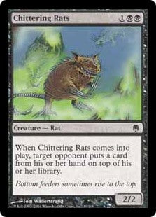 1x Chittering Rats • Foil • Darksteel • SP Slightly Played • MTG