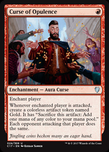 1x Curse of Opulence • Commander 2017 C17 • SP Slightly Played • MTG