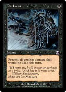 1x Darkness • Time Spiral • MP Moderately Played • MTG