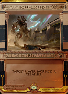 1x Diabolic Edict • Masterpiece Series: Amonkhet Invocations • NM Near Mint • MTG