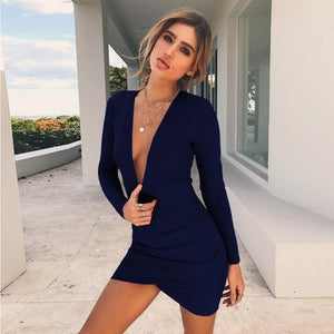 Sexy Bodycon Mini Dress - Alessandro Allori