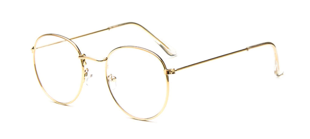 screen glasses for woman gold