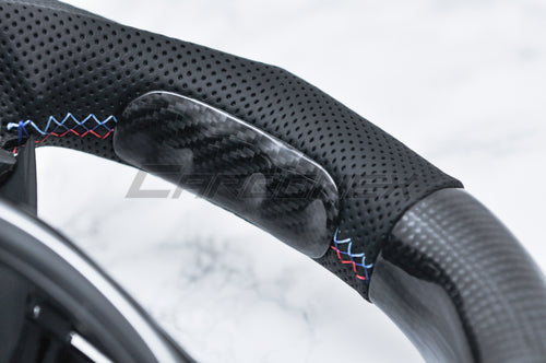 6. Carbon Fiber Grip Trim - [STEERING WHEEL CUSTOMIZATION]