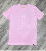 Embossed Pink Unisex Crew Neck T-Shirt