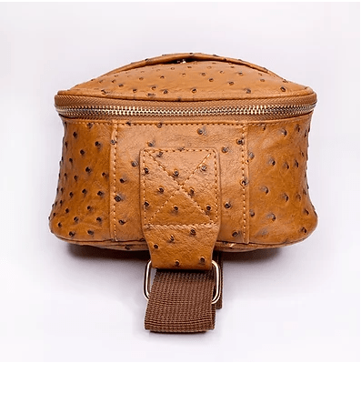 Ostrich Embossed Cross Body Bag