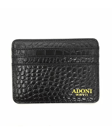 Gator Embossed Black Card Holder