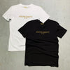 Embroidered Black Crew Neck T-Shirt