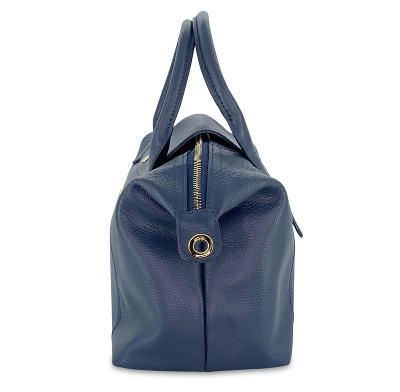 Jalyn Small Pebbled Leather CrossBody Bag - Blue