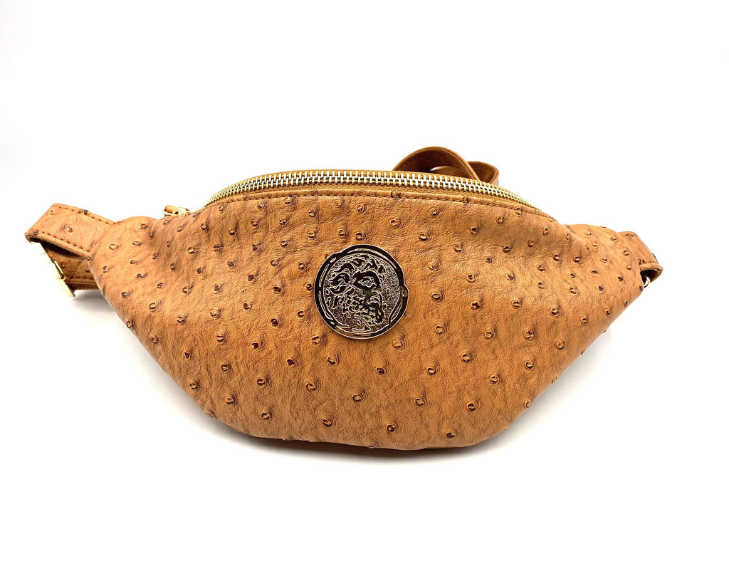 Ostrich Embossed Waist Bag