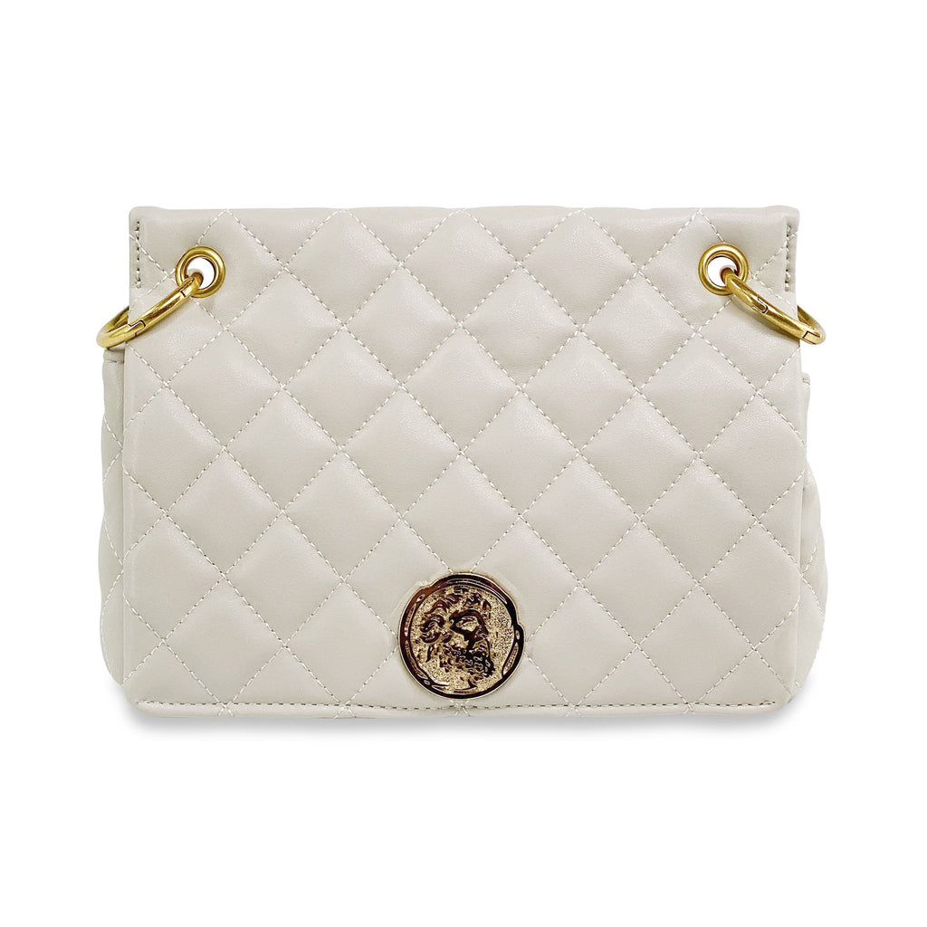 Quilted Almond Shoulder Bag