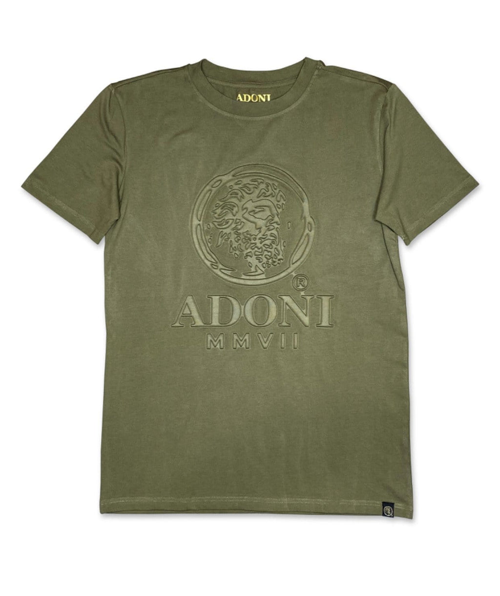 Embossed Dark Green Unisex Crew Neck T-Shirt