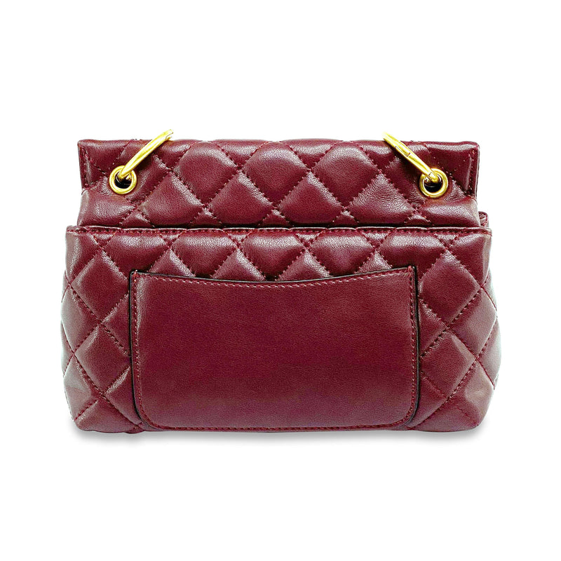 Quilted Burgundy Shoulder Bag