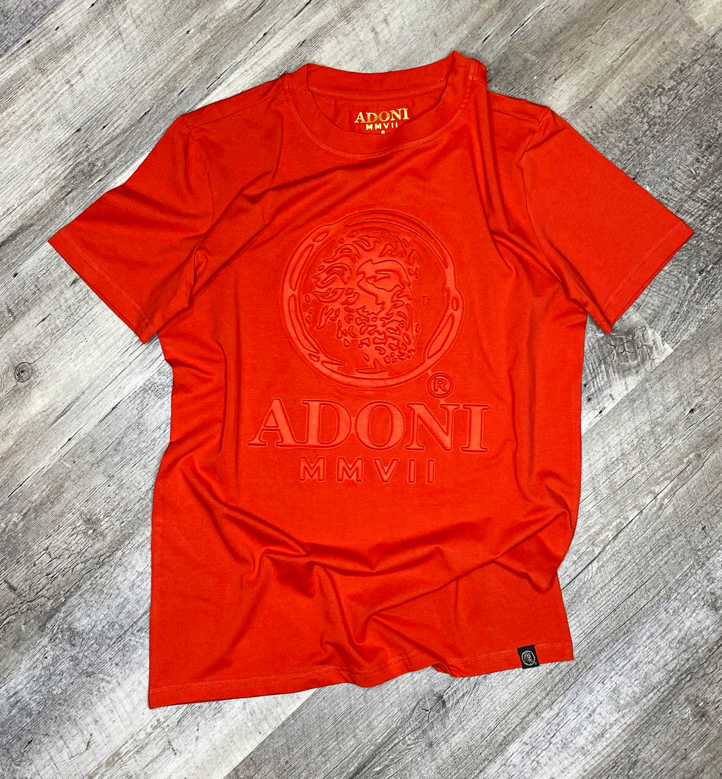 Embossed Red Unisex Crew Neck T-Shirt