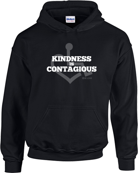 Kindness Is Contagious Hooded Pullover