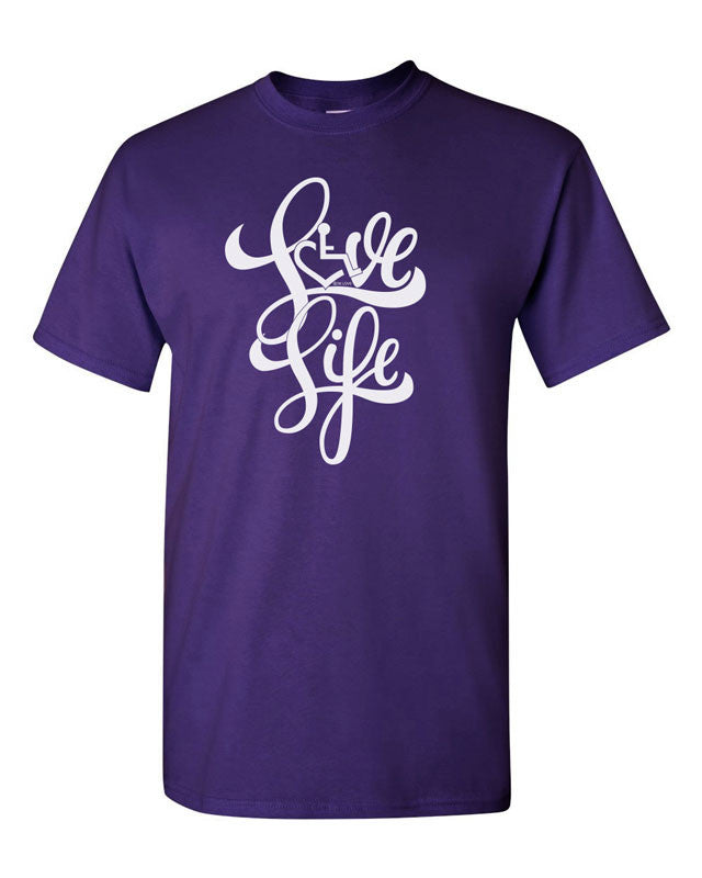Love Life Script Tee - Purple