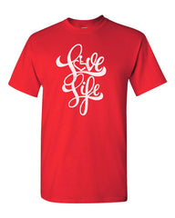 NEW! Love Life Script Tee - Red
