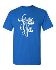 NEW! Love Life Script Tee - Royal Blue