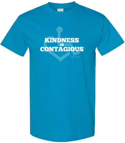 Kindness Is Contagious Tee - Sapphire