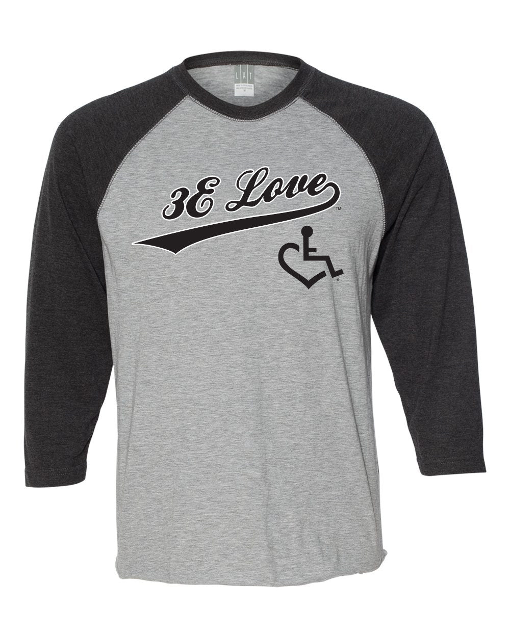 Team 3E Love Baseball Tee - Black
