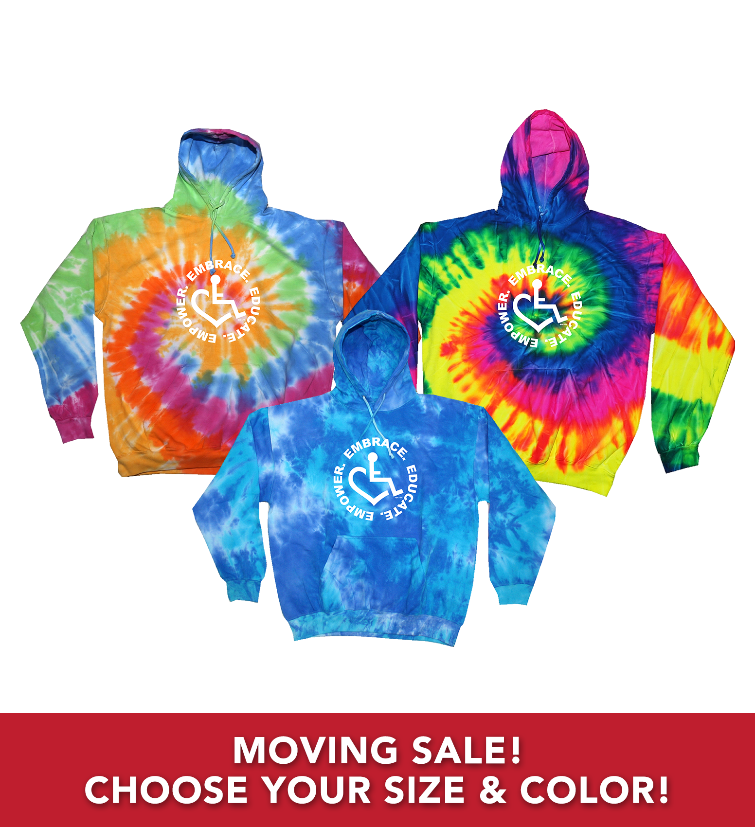Moving Sale/Tie-Dye Hoodie (Youth)