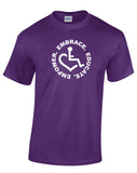 Circle of 3E Love  T-shirt - Purple