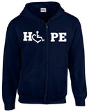 HOPE Hooded Zip-Up - Navy Blue