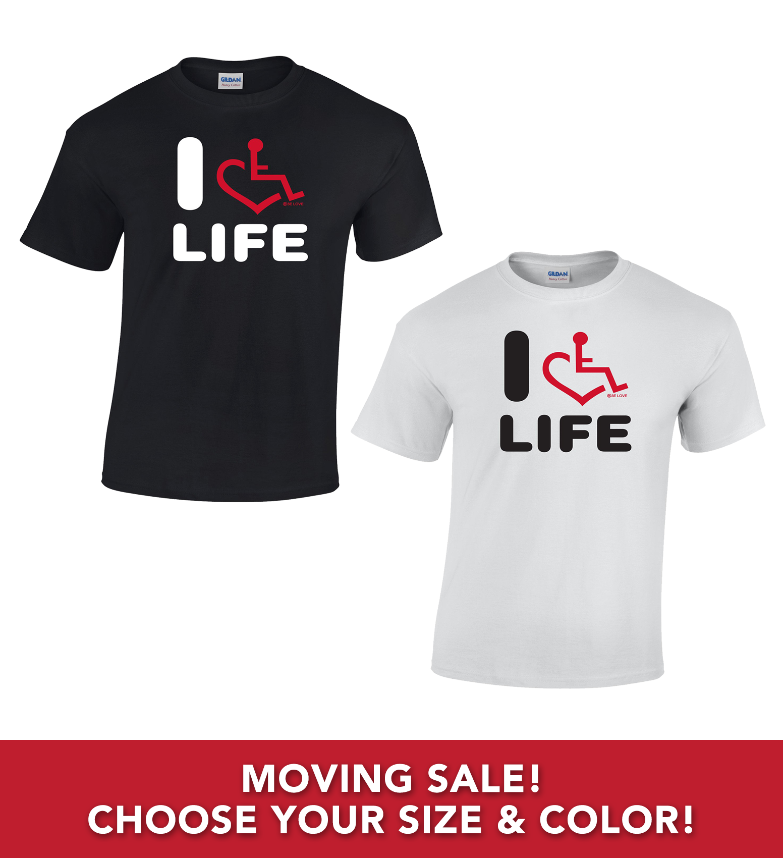 Moving Sale - I Heart Life T-Shirts (Adult)