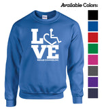 LOVE Rehab Counseling Crewneck Sweatshirt