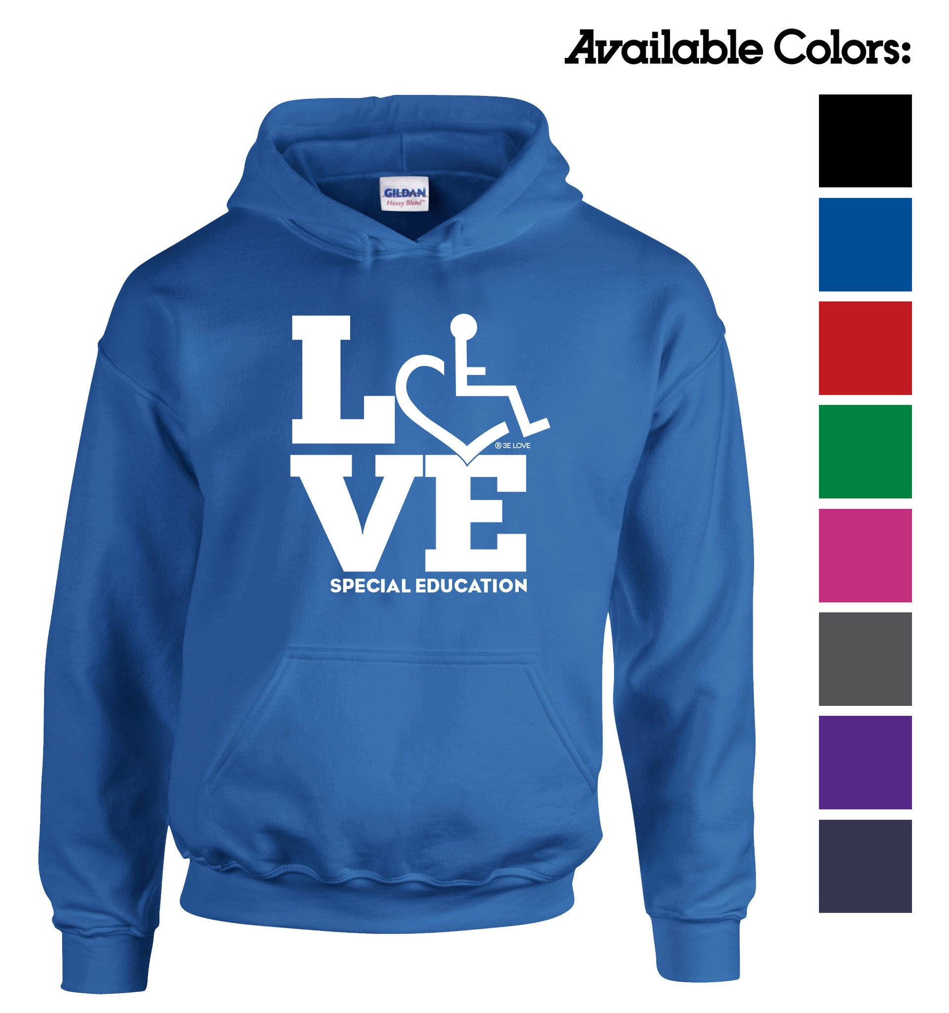 LOVE Special Education Hooded Pullover