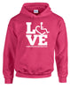 LOVE Therapeutic Recreation Hooded Pullover