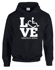 LOVE Therapeutic Riding Hooded Pullover